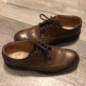 Oxford dress shoes men's Frye brown leather